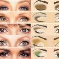 Корекція очей за допомогою макіяжу.