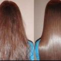Маска для волосся ефект ламінування.