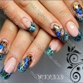 Нарощування нігтів зимовий дизайн