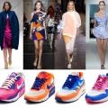 З чим носити кольорові кеди?