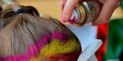 Кольоровий лак для волосся - кардинальні зміни за 2 хвилини