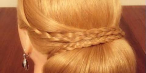 Фото - урок виконання вечірньої зачіски крок за кроком.