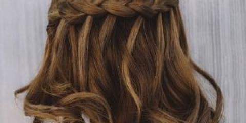Французький водоспад - елегантна зачіска з косою