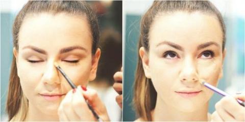 Корекція широкого і довгого носа за допомогою макіяжу