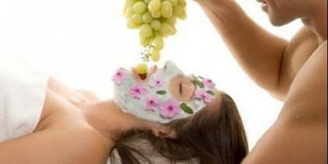 Маски з винограду для сухої шкіри обличчя.