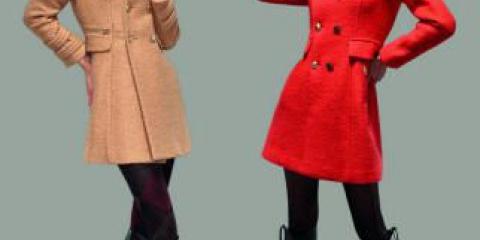Модні жіночі пальта і куртки на фотографіях, інтересниемоделі верхнього одягу.