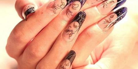 Нарощування нігтів малюнки на нігтях фото