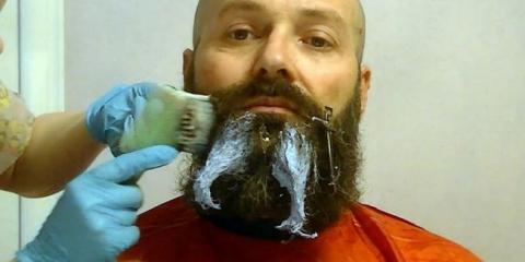 Фарбування і стрижка бороди