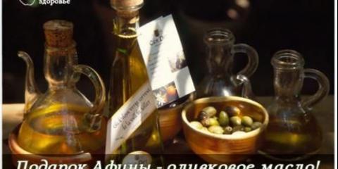 Подарунок афіни - оливкова олія!