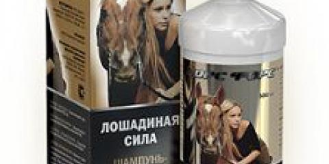 Шампунь від випадіння волосся кінська сила