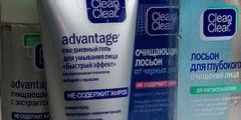 Засоби для проблемної шкіри clean & clear