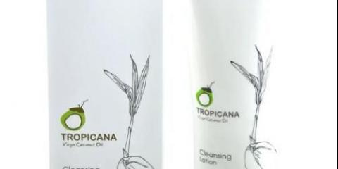 Tropicana oil, очищающий лосьйон.